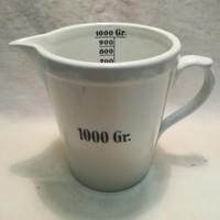 Zsolnay porcelán patika edény mérőedény