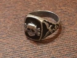 SS totenkopf német II.vh jelzett ezüstgyűrű