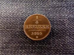 Extra szép 1/4 Krajcár 1851 B verőtő repedéssel/id 8345/