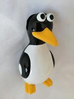 Pingvin íróasztaldísz, névjegykártyatartó