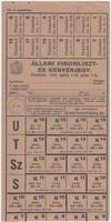 ÁLLAMI FINOMLISZ ÉS KENYÉRJEGY 1943 ÁPRILIS 1-TŐL JULIUS 1-IG.