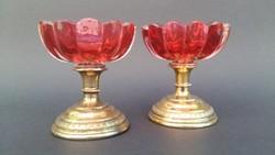Gretschl József. Aranyozott ezüst fűszertartó pár.