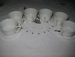 Zsolnay , manó  fülű , mokkás csészék,  készlet    6 db , átm. 52 mm