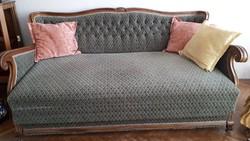 Neobarokk garnitúra (ágy, 2 fotel, 2 szék) gyönyörű megkimélt állapotban