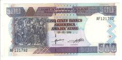 500 francs 1999 Burundi UNC