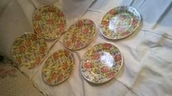 Nagyon ritka! Gránit tányér készlet keresztszemes tányér 6 darab