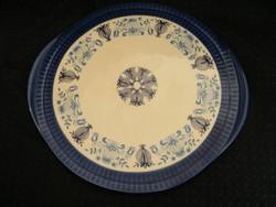 Retro kék-fehér kerámia, porcelán tortatál