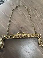 Ékkövekkel díszített antik táska szerelék