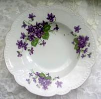 Régi Zsolnay ibolyás fali tányér