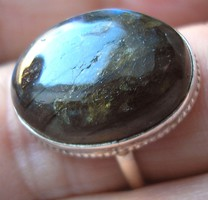 925 ezüst gyűrű, 18,3/57,5 mm, labradorittal