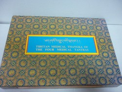 TIBETAN MEDICAL THANGKA OF THE FOUR MEDICAL TANTRAS.