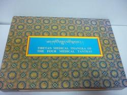 Tibeti gyógyitók könyve TIBETAN MEDICAL THANGKA OF THE FOUR MEDICAL TANTRAS.