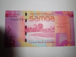 Szamoa  5 tala  2012  UNC további bankjegyek a kínálatomban a galérián!