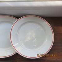 Zeh Scherzer piros csíkos 20 cm-es tányérok 5 db együtt eladó