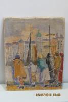 Bálint Rezső (1889-1945): Bámészkodók, olaj, vászon