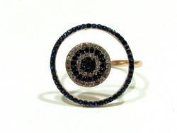 Ezüst köves gyűrű(Kecs-Ag77999)