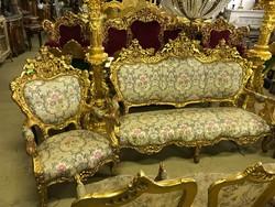 Fantasztikus barokk 6 részes ülőgarnitúra