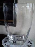 Art Deco minimál stílusú átlátszó üveg váza!