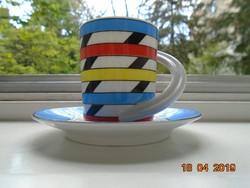 A tervező művész szignójával újszerű Rosenthal modern mokkás  készlet Espresso  nr.10 Studio Line