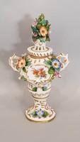 Alt - Wien fedeles váza plasztikus virágokkal