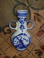 Delft blue kisváza, 12 cm környékén, hibátlan