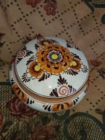 Delft oranje bonbonier, 12 cm környékén, hibátlan