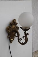 Réz falikar búrával barokk díszes