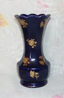 Echt Cobalt Bavaria virágos váza