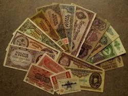 17 db vegyes történelmi bankjegy/id 8552/