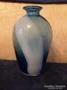 Art deco több színű 22 cm üveg váza hibátlan gyűjtői ritkaság