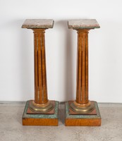 XIX. századi posztamens pár Edward & Robert's antik bútorgyárból