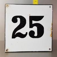 """""""25"""" házszám zománctábla (663)"""