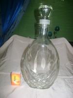 """Retro italos üveg, """"lapos"""" üveg palack"""