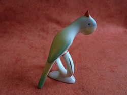 Nagyon ritka aquincumi porcelán papagáj figura