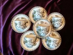 Kézi festésű Hollóházi kávés csésze 6 darab