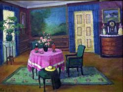 "K. Madarász Adeline ( 1871 - 1962 ) "" Napsütötte szoba  """