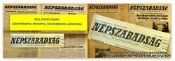 1971 május 9  /  NÉPSZABADSÁG  /  SZÜLETÉSNAPRA RÉGI EREDETI ÚJSÁG Szs.:  5255