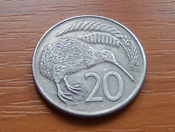 ÚJ-ZÉLAND NEW ZEALAND 20 CENT 1981  KIWI MADÁR #