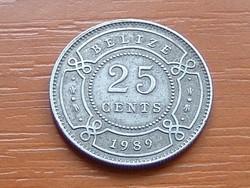 BELIZE 25 CENT 1989  #