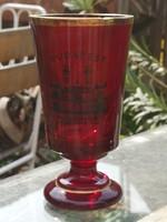 Judaica - bíbor színű üvegpohár