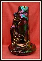 Zsolnay Eosin (eozin ) gyönyörű nagy váza Menekülés