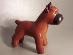 Japán jelzett bőr boxer kutya figura