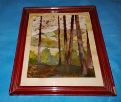 DIENES JÁNOS 1884 - 1962 Budai hegyek eredeti festmény