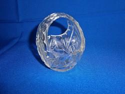 Nagyon szép kristály cukorkatartó, füles kosár
