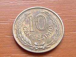 URUGUAY 10 CENTÉIMOS 1960 HP #