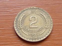 CHILE 2 CENTESIMOS 1965 #