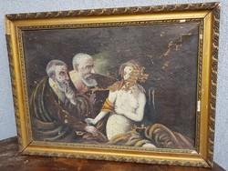 Anna, és a vének, öreg festmény, romos...