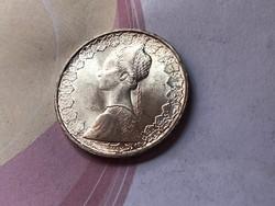 1966 ezüst olasz 500 líra 11 gramm 0,835 gyönyörű darab