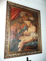 Eladó egy gyönyörű, restaurált, szignált nagyon-nagyon régi antik olaj-vászon festmény