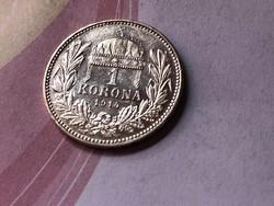 1914 ezüst 1 korona magyar KB ,gyönyörű darab